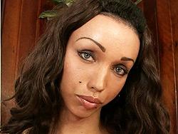 Leona andrew. Ebony ladyboy Leona Andrew masturbating