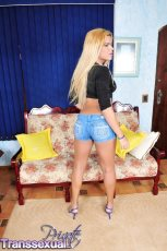 Hilda brazil. Hilda Brazil in a gorgeous jeans showing her petite anatomy
