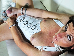 Reese canyon white. Exciting Reese stroking in a corset