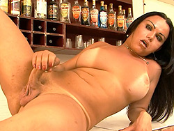 Leticia bruni masturbating Hot tranny Leticia Bruni masturbating in the bar.
