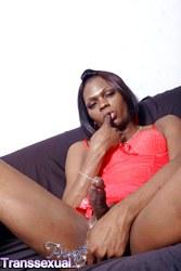 Posh Posh Showing Her Sensitive cock.