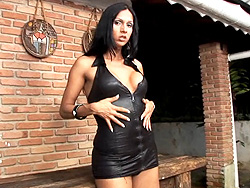Lorena gatelly masturbating Seductive ladyboy Lorena Gatelly teasing and playing.