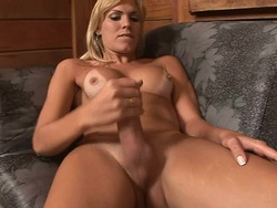 Kananda hickmann. Blonde excited babe Kananda strokes her penish